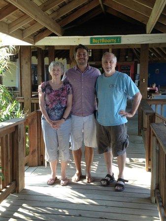 Lands End - Ocean Front Lodge: Adi Hirzer, Lands End's manager, in center of photo