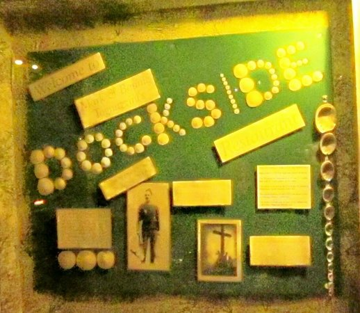 Tognazzini's Dockside Restaurant: Shadowbox with info about the owners