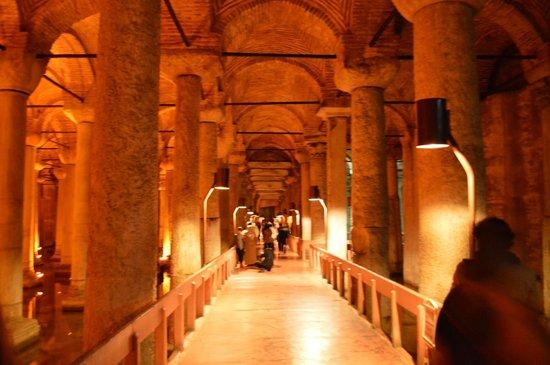 Beautiful inside Basilica Cistern