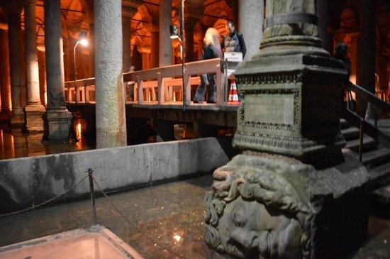 Basilica Cistern: One of two Medusa Heads