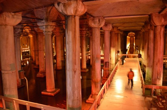 Basilica Cistern: View from Above with example of walking space