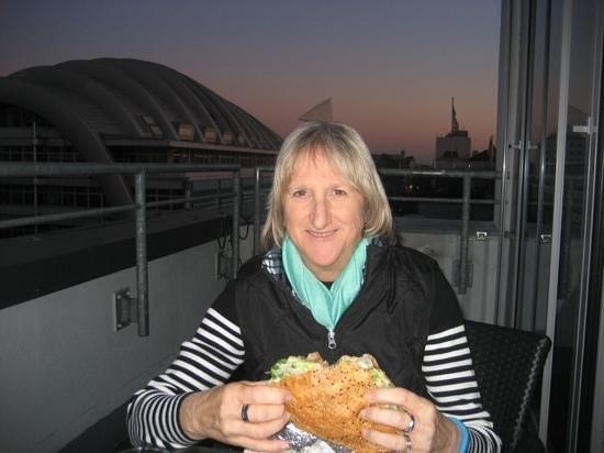 Hotel Indigo Berlin - Ku'damm: Dinner on Patio