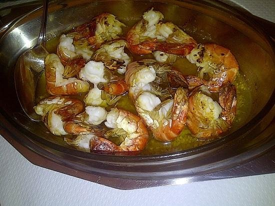 Restaurant de L'Esplande : garlic shrimp dish