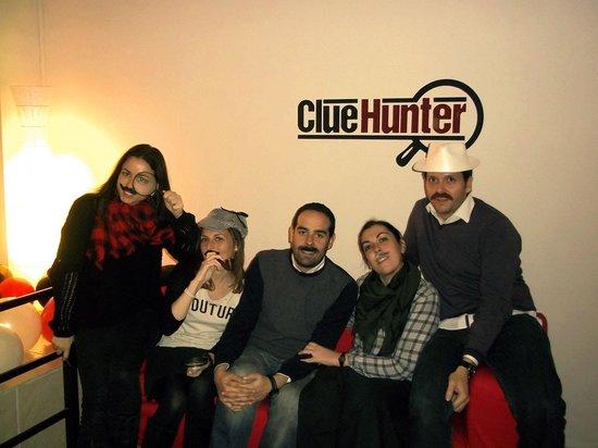 Clue Hunter: Nuestro grupo después de enfrentarnos al juego y salir victoriosos! ;)