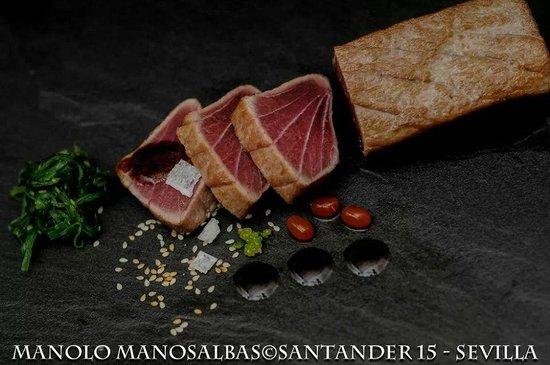 Restaurante Santander15 : Tataki de atún rojo.
