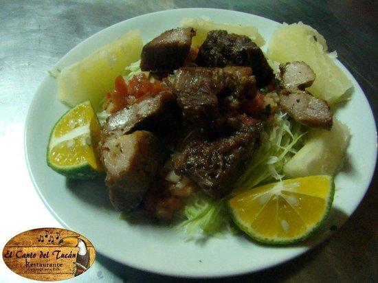 Hotel y Restaurante El Canto del Tucan: El delicioso Vigorón de nuestro restaurante