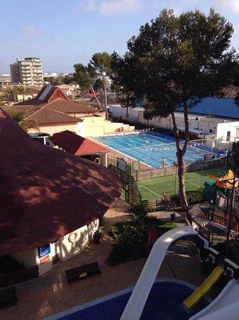 Viva Blue: blick vom balkon. 25m Pool