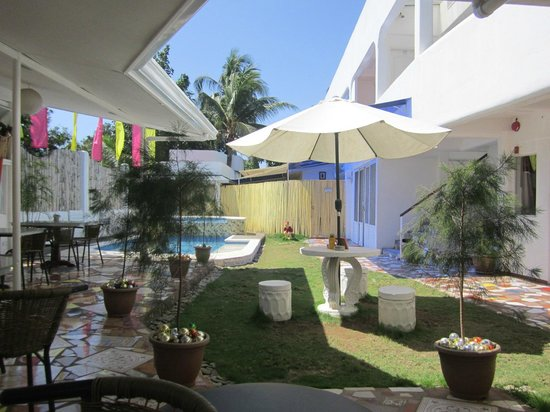 House of Big Brother: Pool area where you can also dine in