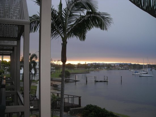 Waters Edge Port Macquarie: View west from our room