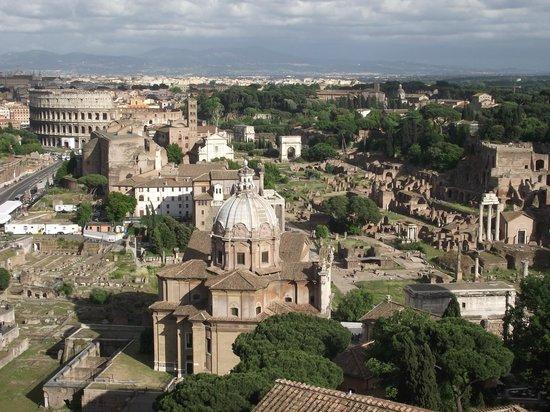 Rome, Italie : Fórum Romano vista do terraço