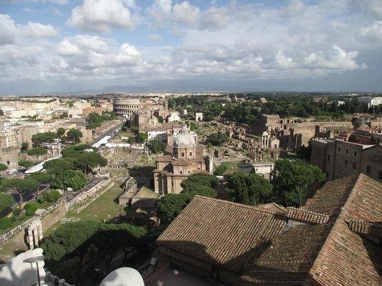 Rome, Italie : Forum Romano visto do Terraço do Vittorio Emanuele