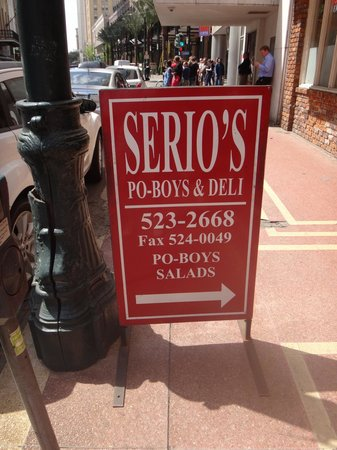 Serio's Po-Boys & Deli: Sign