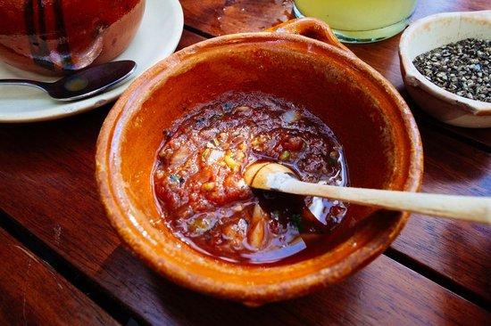La Cueva del Chango: spicy salsa