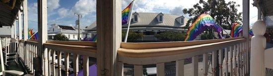 New Orleans House: Aussicht von der Frühstücksterasse