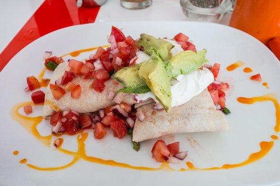 Teetotum Hotel: breakfast burrito