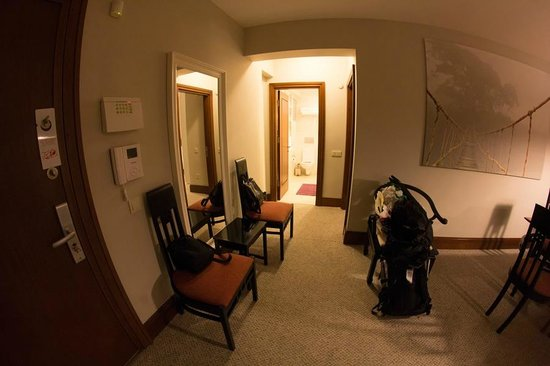 116 Residence: Looking towards the bathroom