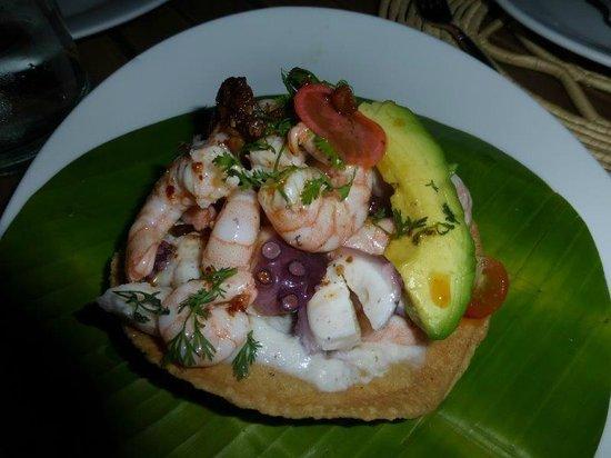 Casa Oaxaca  Restaurant: Seafood Tostada