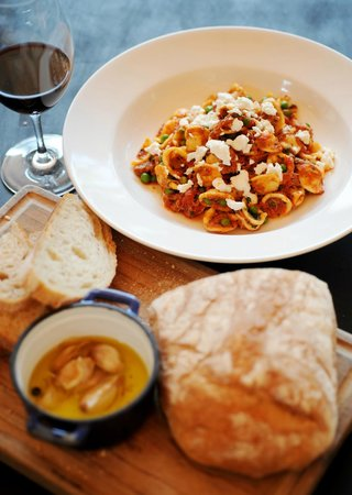 Italian at the Pacific: Shredded lamb Orecchiette