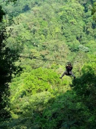Sky Adventures - Arenal Park: One of the zip-lines
