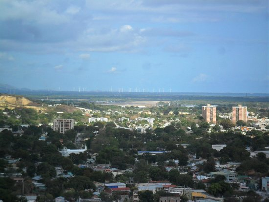 El Museo Castillo Serralles : A view of Ponce from the main balcony.