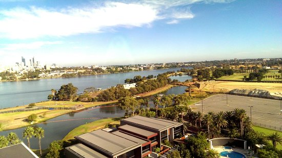 Crown Metropol Perth: City view from room