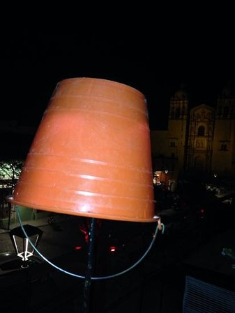 Casa Crespo Restaurant : Orange bucket upside down light shade is indicative of quality