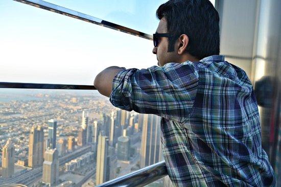 Arabian Dreams Hotel Apartments: Dubai bird's eye view atop the bruj khalifa