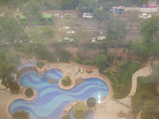 Sheraton New Delhi: view of pool from room