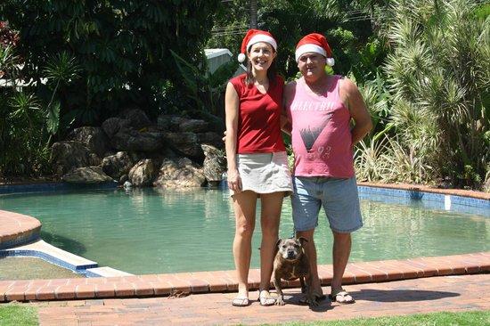 Lake Placid Tourist Park: Christmas Photo 2012 at the Swimming pool area