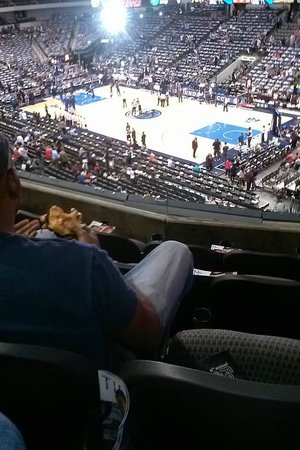 American Airlines Center: View from my seat at AAC Platinum Corner Level