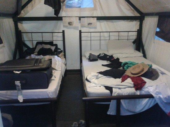Half Dome Village : Die Zelte mit Doppel- und Einzelbett