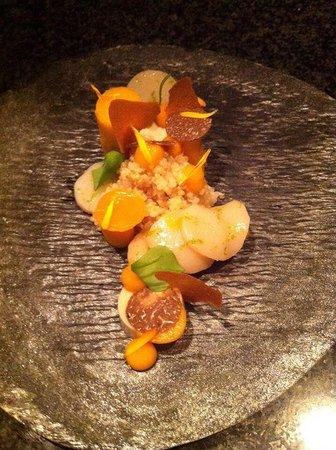 Aan tafel bij Luc Bellings: Coquille/pompoen