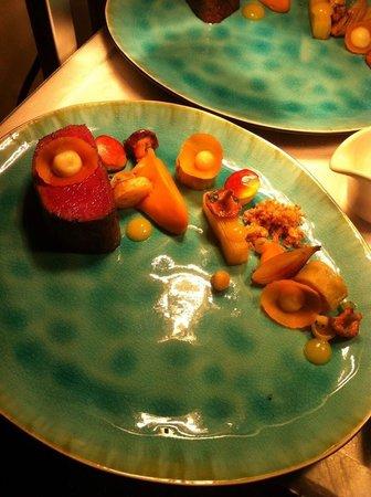 Aan tafel bij Luc Bellings: Hert/pompoen