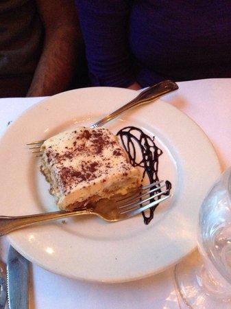La Dolce Vita: Sharing the tiramisu dessert