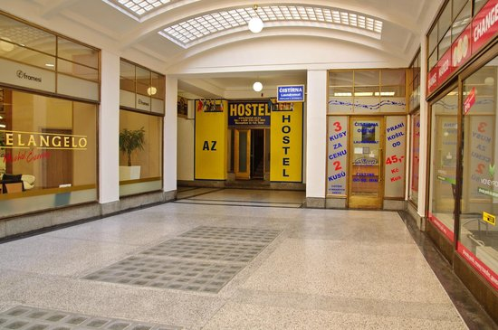 AZ Hostel : Entrance from Jindrisska passage