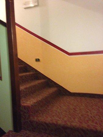 Cerana Relax Hotel: klatka schodowa z brudną wykładziną