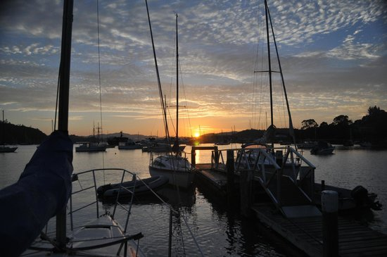 Great Escape Yacht Charters and Sailing School : Dawn at Great Escape Yacht Charters Opua