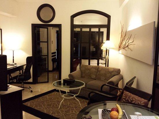 Vivere Hotel: the living area