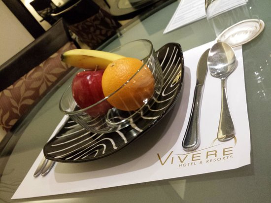 Vivere Hotel: compimentary fruits