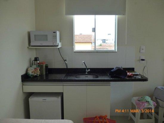 Ilha Norte Aparthotel: mesada de cocina aceptable