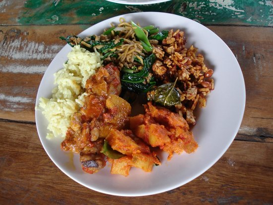 Caraway Cooking Class: My plate of the food we prepared...