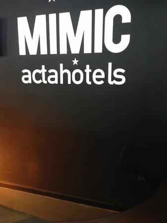Hotel Acta Mimic: наименование