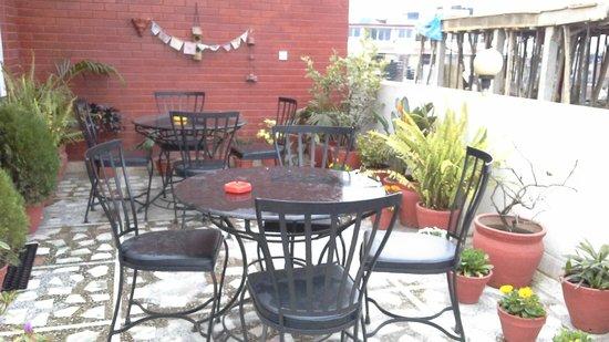 Annapurna Guest House: rooftop garden