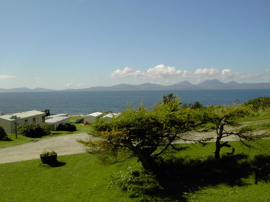 Port Ban Holiday Park: View towards Jura from top of the site