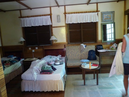 Sipadan Mabul Resort: Beach Bungalow Schlafbereich