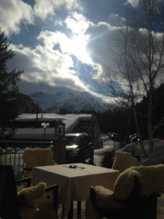 Hotel Plattenhof: view terrace