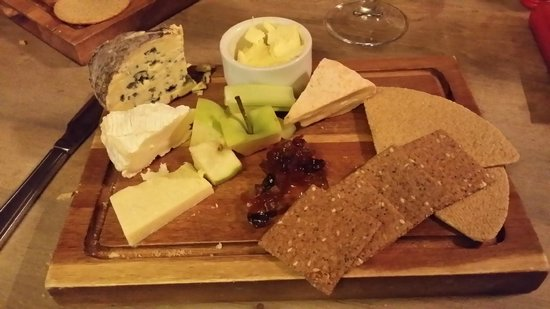 The Sportsman Inn: Tasty Local Cheese Selection