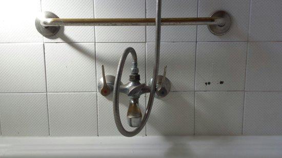 Delfin Apartamentos Casa Vida: Very dated shower