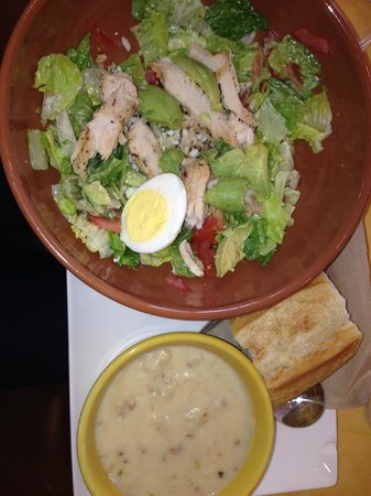 Panera Bread: Chicken Cobb with Avocado and Potato Soup