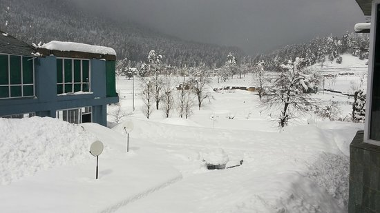 Hotel Woodstock: View from room during snow fall
